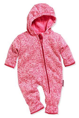 Playshoes Baby-Unisex Strickfleece-Overall Schneeanzug, Rosa (Pink 18), 86