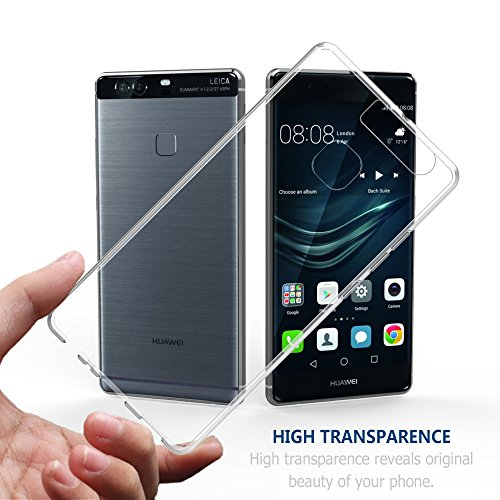 Simpeak Hülle Kompatibel mit Huawei P9 Plus [2 Pcs], Schutzhülle Kompatibel für Huawei P9 Plus Silikon Transparent - 3
