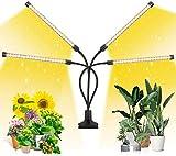 MATEHOM LED Pflanzenlampe Vollspektrum, 4 Umschaltung Modi & 10 Dimmbare Optionen, mit Timer, Pflanzenleuchte für Zimmerpflanzen Wachstumslampe Grow Lampe 360°Einstellbar mit
