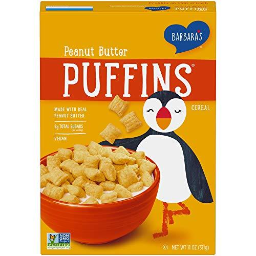 Barbara's Puffins Peanut Butter Cereal, Non-GMO, Vegan, 11 Oz Box...
