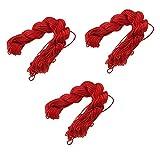 Perlin 30 Metros de Hilo de macramé 1 mm Rojo Cuerda de Perlas para Joyas Hilo para DIY Cadena Pulsera Manualidades