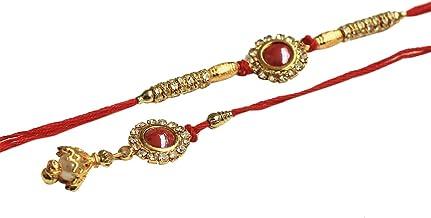 KrazyCraft Designer Wooden Rakhi with Beads /& Stone Best Handmade Red Thread with Wooden Notch Rakhi for Loving Brother//Sibling//Bhai Happy Rakshabandhan Raksha Bandhan from India