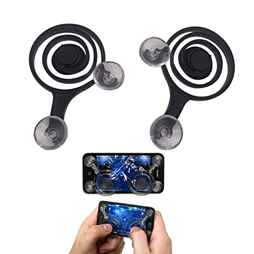 Mini Game Joystick Perfect Dual Analog Joysticks Game Rocker Touch Screen Joypad GamePad Tablet Funny Game Controller for Phone and Ipad. (A Set)