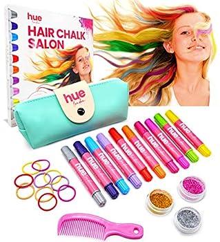 HueLondon 25-Piece Hair Chalk for Girls Set Hair Chalk Pens for Dark Hair Dye Temporary Hair Color for Kids and Preteens Washable Unicorn Hair Color Birthday Gift for Girls 6 7 8 9 10 11 Teens