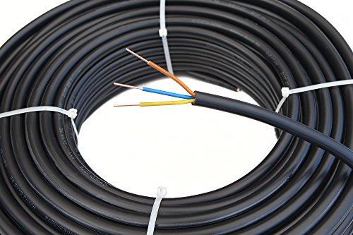 Starkstromkabel NYY-J 3x1,5mm² Kabel | 50m Ring, 3 adriges Erdkabel nach DIN VDE 0276-603