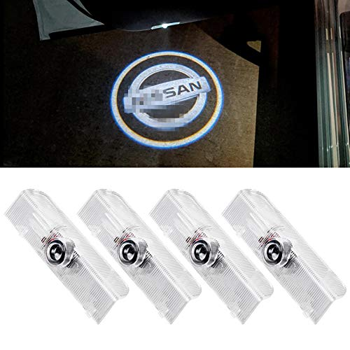 CHUNLING for Nissan Altima Car Door Lights Projector Shadow Ghost Lights Welcome Emblem Lamp for Nissan Altima/Armada/Maxima/Quest/Titan Accessories LED puddle Light Logo 3D Looking (4 Pack)