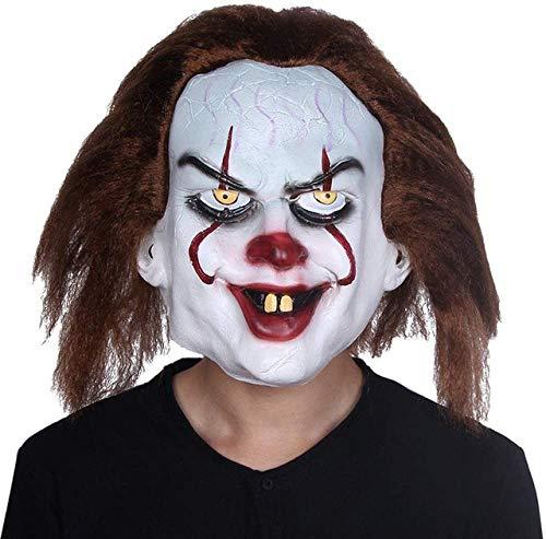 HWXDH Mscara Mscara Disfraz De Penny Wise Mscara De Comodn Tim Curry Mscaras De Terror Cosplay Halloween, X12056, X14080