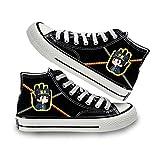 KUNIUO JoJo's Bizarre Adventure Yuri!!! Zapatos De Lona para Mujer, Zapatillas De Deporte Casuales De Verano para Hombre, Zapatos Altos para Mujer, Zapatos Planos Vulcanizados para Estudiantes, Prim