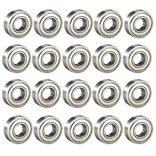 Donepart 684ZZ Small Bearings 4mm x 9mm x 4mm Double Shielded and Pre-Lubricated Deep Groove Ball Bearing (20 Pcs)