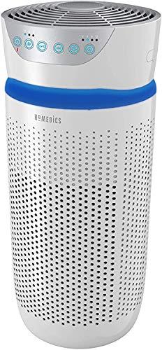HoMedics Purificatore d'Aria, Filtro HEPA a 360°, Tecnologia con Luce UV-C Elimina Odori, Allergeni, Virus, Batteri e Germi Piccoli fino a 0.3 Microns, Flusso d'Aria 204.1 m3/h