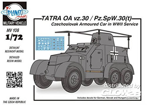 Planet Models mv108 – Modèle Kit Tatras OA VZ 30/PZ h-Spy-SPW-2.1-Mini 30T czechosl Bras