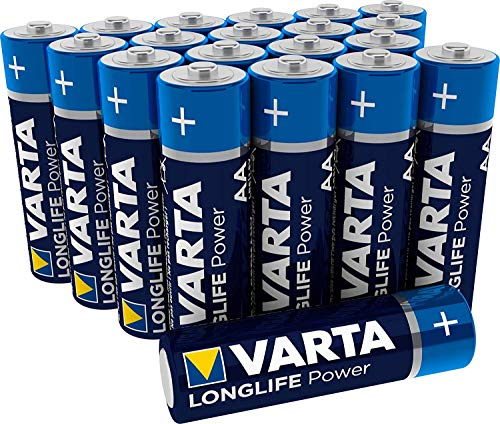 VARTA Longlife Power AA Mignon LR6 Batterie (20er Pack) Alkaline Batterie - Made in Germany - ideal für Spielzeug Taschenlampe Controller und andere batteriebetriebene Geräte