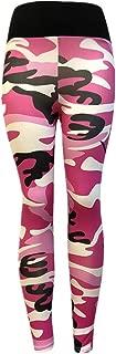 Camouflage Skinny Yoga Pants, Women's Ultra Soft Leggings Power Flex Workout Running Leggings Pants by E-Scenery