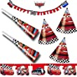 Procos Carpeta 39-TLG. Kinder-Party-Set   Cars RED