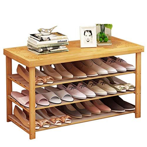 HXR Schoenenrek voor thuis, eenvoudige manier van massief hout, kan in de hal, schoenenkast of schoenenkast (afmetingen: 70 x 27 x 70 cm)