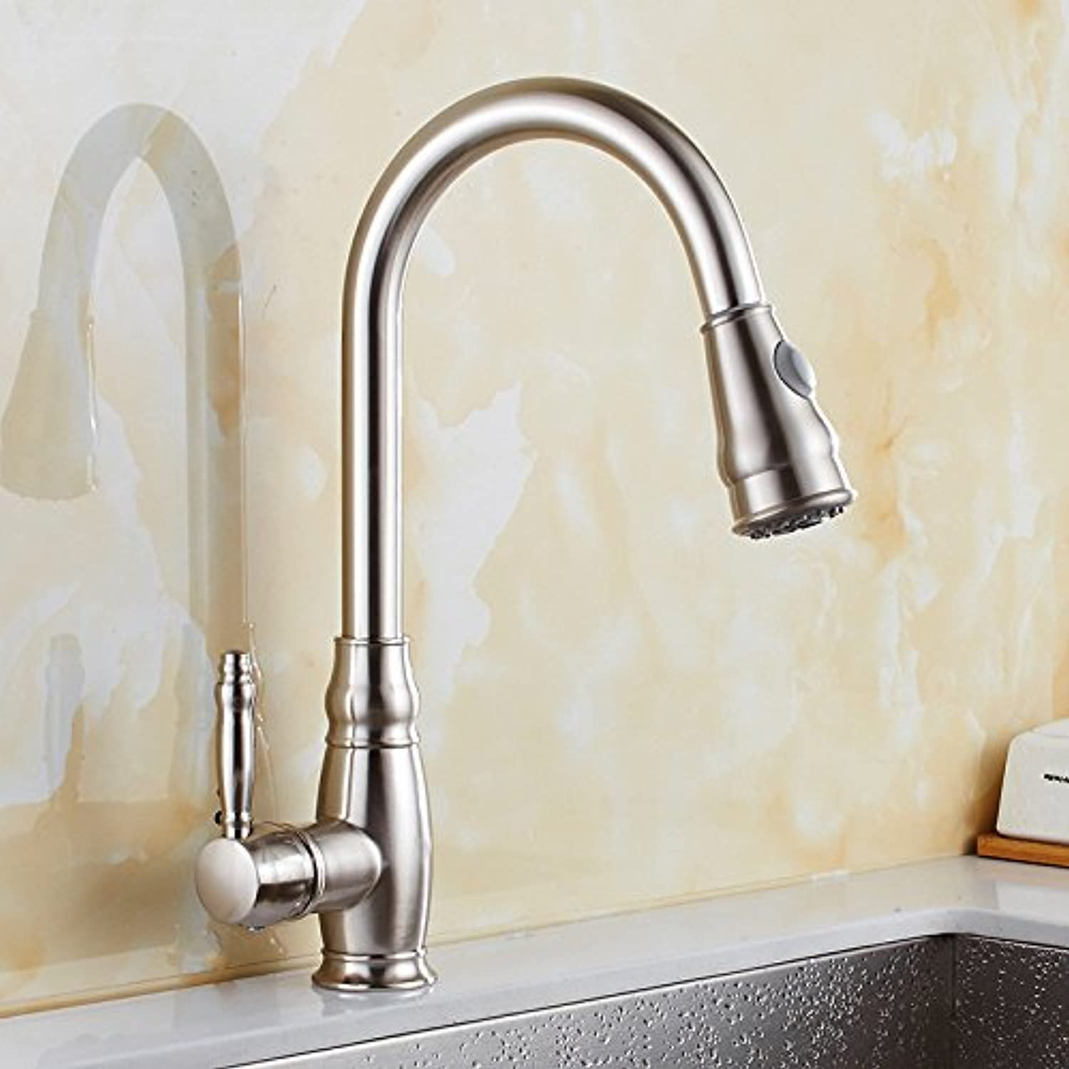 redOOY Taps Faucet Kitchen Sink Sink Brushed Kitchen Hot And Cold Faucet Sink Sink Faucet