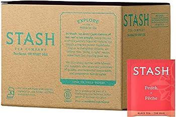 Stash Tea Peach Black Tea Box of 100 Tea Bags  Packaging May Vary