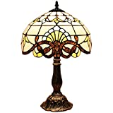 Lampe de table Bieye L30025 - Hauteur: 46 cm - Style baroque/Tiffany