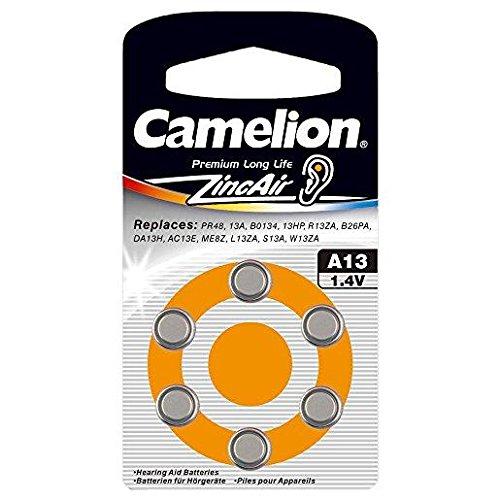 Camelion 3Pack 6Knopfzellen Hörgeräte Zink Air A13/ZL131,4V