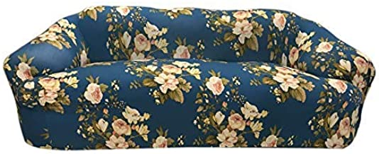 House of Quirk Universal Sofa Cover Big Elasticity Cover for Couch Flexible Stretch Sofa Slipcover (Blue Flower, Triple Seater)