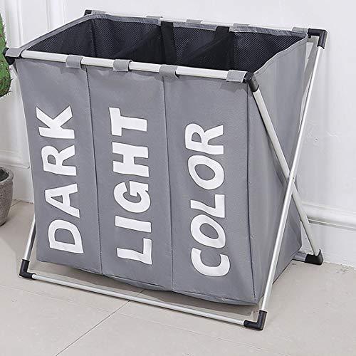 Swiftswan Faltbare große dreiteilige Wäscheständer Wäschekorb Spielzeug Aufbewahrungskorb Oxford Cloth Wäschekorb