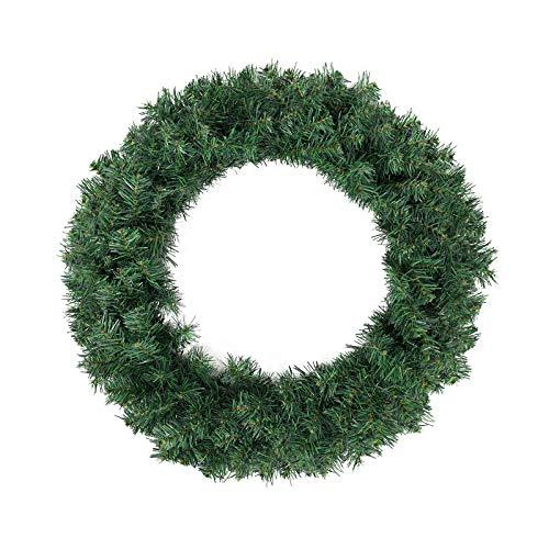 SALCAR Corona de Navidad para Puerta de casa 60cm, Coronas Navideñas Artificial Decoración De Navidad Colgante para Puerta Colgante Adornos de Pared
