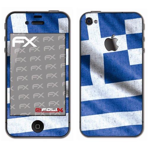 Displayschutz@FoliX atFoliX - Pellicola Protettiva Design Calcio 2012' con Bandiera della Grecia, per Apple iPhone 4 / 4s