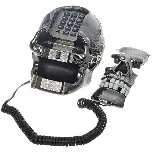 Bluelover Einzigartige Black Skull Skeleton Geformte Festnetz Telefon