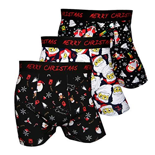 Pesail Special Edition Boxershorts Collection Xmas Weihnachtsgruss, Größe Medium (M), Farbe je 1x Santa, Reindeer, Winter