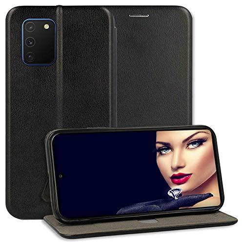 mtb more energy Funda Bookstyle Premium para Samsung Galaxy S10 Lite (SM-G770, 6.7'') - Negro - Cuero sintético - Carcasa Estuche Wallet Case Cover Cover