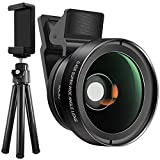 Cell Phone Camera Glass Lens Kit with Tripod and Adapter, SourceTon HD Clip-on