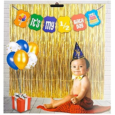 PartyToko Half Birthday Party Decoration (It's My 1/2 Birthday Multi Color Banner) for 6 Months