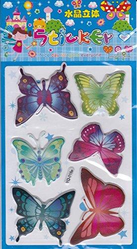 by soljo 3D Papillons Animaux Decal Autocollant de décalque 1 Dimensions de la Feuille: 16 cm x 8 cm