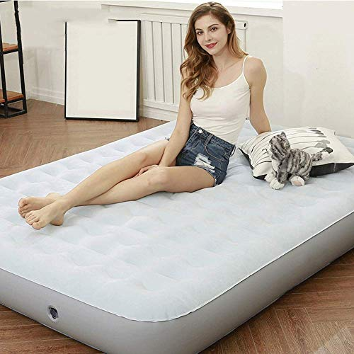 TYZXR Double Inflatable Bed, Household Air Bed Portable Mattress Sleeping And Rest Bed With Built-in Pump & Pillow, Camping Bed
