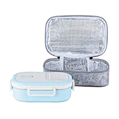 Premium Material – Interior made from high quality food-grade stainless steel SS304 which will never rust and is naturally BPA-free. Does not retain flavors or scents, so you can use it over & over again. Leak & Spill Proof – The BPA-free insulated b...