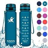 Ideal para el Ejercicio y los Deportes al Aire Libre Sin BPA con Filtro de Infusi/ón de Frutas Antigoteo y sin Sudor Hydracy Botella de Agua con Marcador de Tiempo