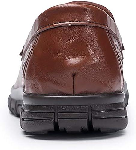 GPF-fei GPF-fei Chaussures Décontracté pour Homme, Printemps Nouveau Bas Top Mocassins & Slip-Ons Trekking Camping Semelles légères Décontracté Chaussures en Cuir marée Flux personnalité,marron,43  marque célèbre