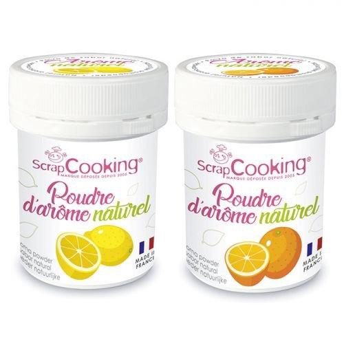 Aromas alimentarios naturales en polvo 15 g x 2 - limón y naranja
