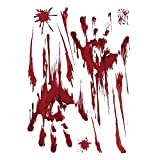 FJSC 2PCS Halloween Creepy Giant Bloody Fenster Poster
