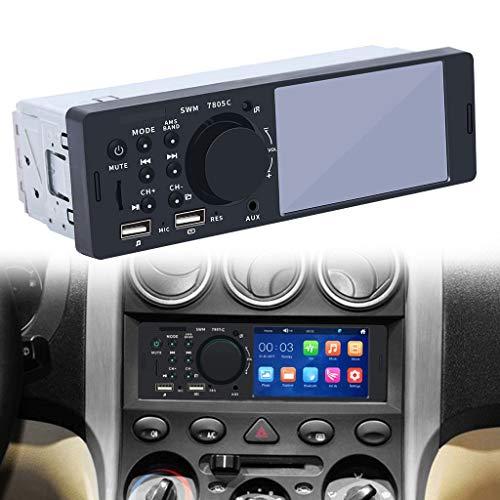 Sixcup SWM-7805C 4 Zoll Bluetooth Autoradio HD Dual USB Auto Freisprecheinrichtung, BT MP5 Player Host,Touchscreen,Umkehrbildkarte U-Disk-Maschine Reverse Image Auto FM (Schwarz)