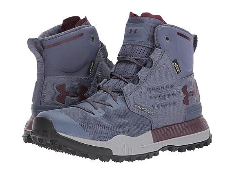 微弱ロッジ時代(アンダーアーマー) UNDER ARMOUR レディースブーツ?靴 UA Newell Ridge Mid GTX Apollo Gray/Steel/Raisin Red 11 28cm B - Medium [並行輸入品]