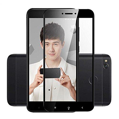 Youji Full Coverage Calidad superior 2.5D 9H Vidrio templado 0.26mm Vidrio templado Protector de pantalla para Xiaomi Redmi 4X-Negro
