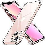 ivoler Funda Compatible con iPhone 13 con Protección de La Cámara, Carcasa Protectora Antigolpes Transparente con Cojín Esquina Parachoques, Suave TPU Silicona Caso Delgada Anti-Choques Case