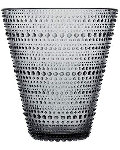 Iittala Kastehelmi decoratieve vaas, glas, grijs, 15,4 cm