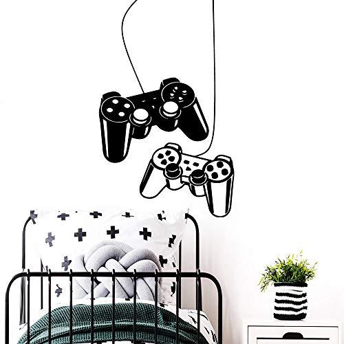 LSMYE NEU Gamer Vinyl Aufkleber Jungen Zimmer Aufkleber Abnehmbare Videospiel Zimmer Dekoration Wandaufkleber Dekoration Wandbilder Pink L 28cm X 49cm