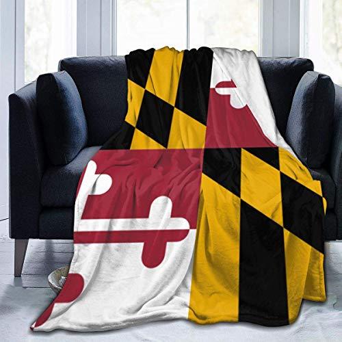 Manta de Lana, Bandera de Maryland, Mujer, Manta Unisex, Manta de Felpa, Manta de Felpa, Manta borrosa para Acampar, Viajes, Regalos