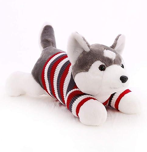 HOMDREAM Husky Plüschtier Soft Fluffy Sitting Plüschtier Hund Für Jungen Und mädchen Geschenk Home Decoration,70cm