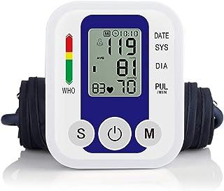 YHML Monitor de presión Arterial en el Brazo Superior - Preciso, OMS - Manguito Ajustable, Pantalla Grande, Estuche portátil - Detector de hipertensión y latidos Irregulares del corazón de Defender