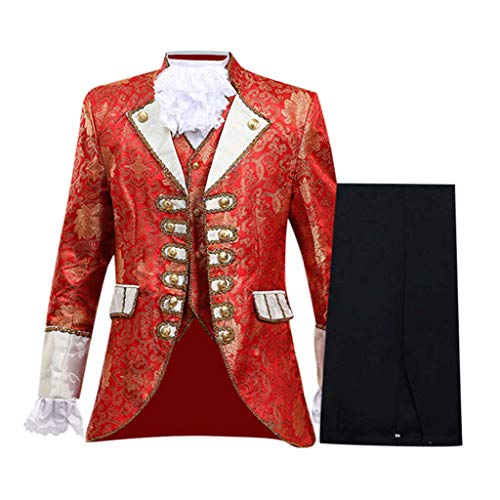 ODRD Herren Prinzenkostüm | Prince Charming | Deluxe Kostüm | Herrenkostüm König | Männer Europäischen Stil Court Kleid Militärische Kleidung Leistung Prinz Military Uniforms