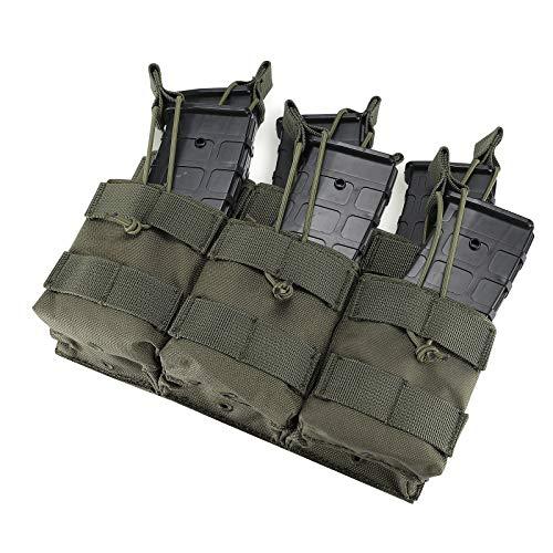 Procase Bolsa de Cartucho Táctica, Cartuchera con Correa Elástica para Cargador Munición de AK AR M4 M16 -Verde